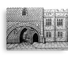 256 - ABBEY ARCH, NORTHGATE STREET, CHESTER DAVE EDWARDS - INK 2014 Canvas Print