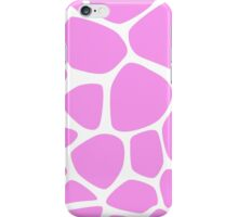 Animal Print (Giraffe Pattern) - Pink White  iPhone Case/Skin