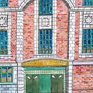213 - CENTRAL CINEMA, BLYTH - INK AND WATERCOLOUR - DAVE EDWARDS - 2008 by BLYTHART
