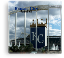 Kansas City Baseball Canvas Print