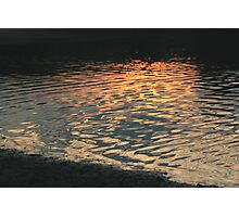 Sunset reflection on water Photographic Print