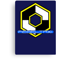 Rebel Taxi logo 3 Canvas Print