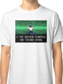 Tecmo Bowl I've Never Punted Classic T-Shirt