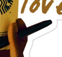 Lonely Starbucks Lover (Blank Space)  Sticker