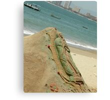 Virgin Mary Sand Sculpture Canvas Print