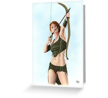 Elven Archer Greeting Card
