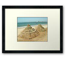 Sand Sculptures Framed Print