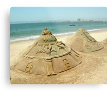 Sand Sculptures Metal Print