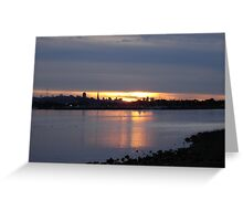 San Francisco at Sundown Greeting Card