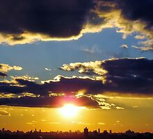 Winter Sunset over New York City  by Alberto  DeJesus