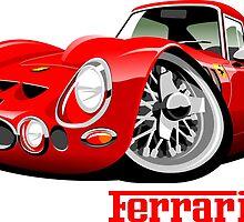 Ferrari 250 GTO caricature by car2oonz
