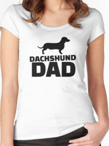 Dachshund Dad Women's Fitted Scoop T-Shirt