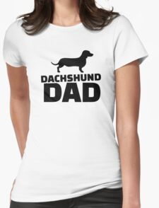 Dachshund Dad Womens Fitted T-Shirt