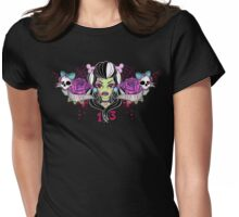 Love Hate Chest Tattoo Womens Fitted T-Shirt