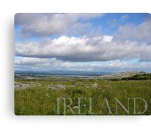 Irish Horizon in the Burren Canvas Print
