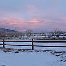 HEART MOUNTAIN SUNSET by Leigh Karchner