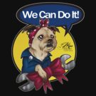 We Can Do It! Pup by Miss Cherry  Martini