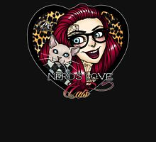 Nerds Love Cats Womens Fitted T-Shirt