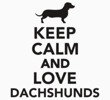 Keep calm and love Dachshunds by Designzz
