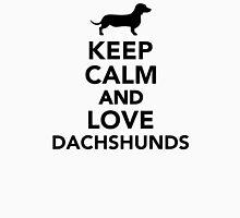 Keep calm and love Dachshunds Unisex T-Shirt