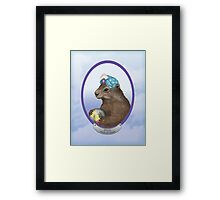 Psychic Groundhog Predicts the Future Framed Print