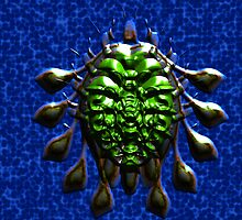 10 Flippered Green Armored Turtle Beetle by AlienVisitor