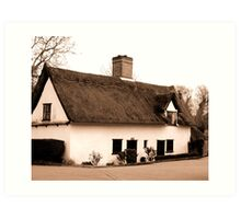 Bridge Cottage constable country Art Print
