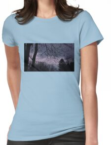 Mysterious Night Sky. Womens Fitted T-Shirt
