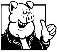 Cartoon Pig Thumbs Up by NetoboDesigns