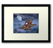 Phil Groundhog Superhero  Framed Print