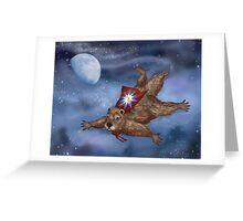 Phil Groundhog Superhero  Greeting Card