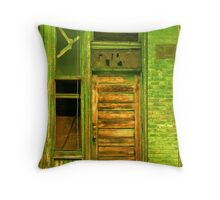 Green StoreFront Throw Pillow