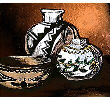 Copper and Pottery Photographic Print