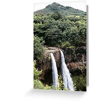Wailua Falls, from the top, Kauai, HI Greeting Card