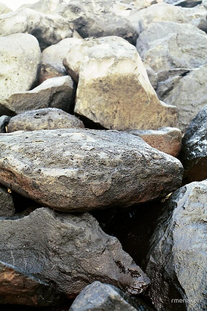 beach rocks, Kauai, HI by rmenaker