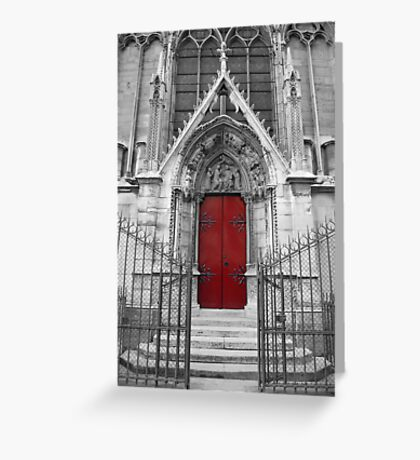 Notre Dame's Red Door Greeting Card