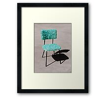 Glass Chair sculpture Framed Print