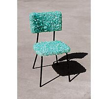 Glass Chair sculpture Photographic Print