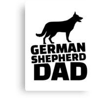 German shepherd Dad Canvas Print