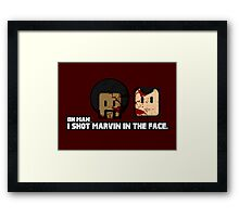Toon Quote : Pulp Fiction - I Shot Marvin in the Face Framed Print