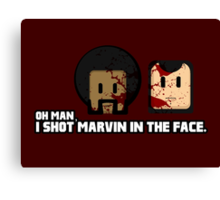 Toon Quote : Pulp Fiction - I Shot Marvin in the Face Canvas Print