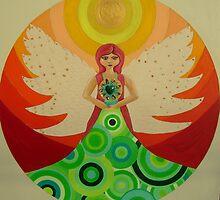 mandala-angel by heidi hinda chadwick