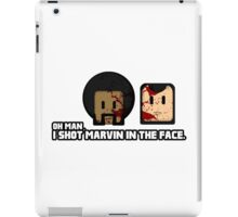 Toon Quote : Pulp Fiction - I Shot Marvin in the Face iPad Case/Skin