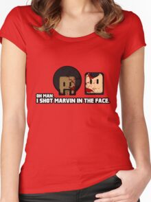 Toon Quote : Pulp Fiction - I Shot Marvin in the Face Women's Fitted Scoop T-Shirt