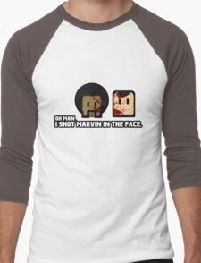 Toon Quote : Pulp Fiction - I Shot Marvin in the Face Men's Baseball ¾ T-Shirt