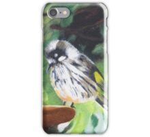 New Holland Honeyeater chick! Oil painting on board.  iPhone Case/Skin