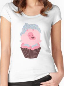 Cupcake Lion Women's Fitted Scoop T-Shirt