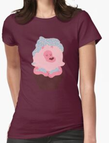 Cupcake Lion Womens Fitted T-Shirt