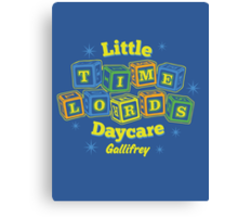 Little Time Lords Daycare Gallifrey Doctor Who Youth Tee Canvas Print