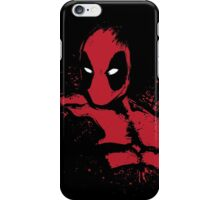 Merc in Red (black Tee) iPhone Case/Skin